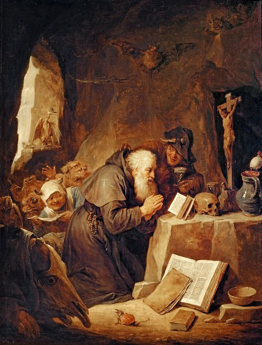 David Teniers II -- Temptation of Saint Anthony. Part 5 Louvre