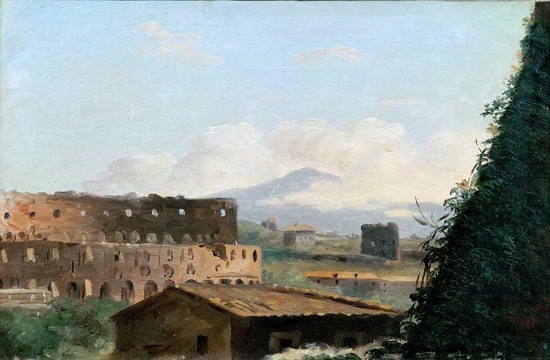 Pierre Henri de Valenciennes -- View of the Coliseum. Part 5 Louvre