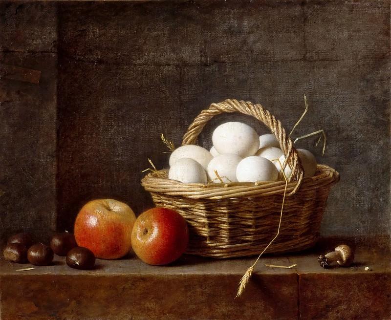 Henri Horace Roland de la Porte -- Basket of eggs. Part 5 Louvre
