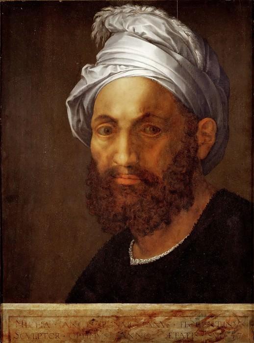 Giuliano Bugiardini (1475-1554) -- Portrait of Michelangelo (1475-1564). Part 5 Louvre