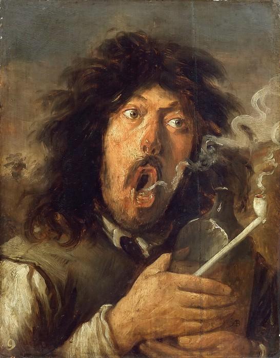 Josse van Craesbeeck -- The Smoker (portrait of the artist?). Part 5 Louvre