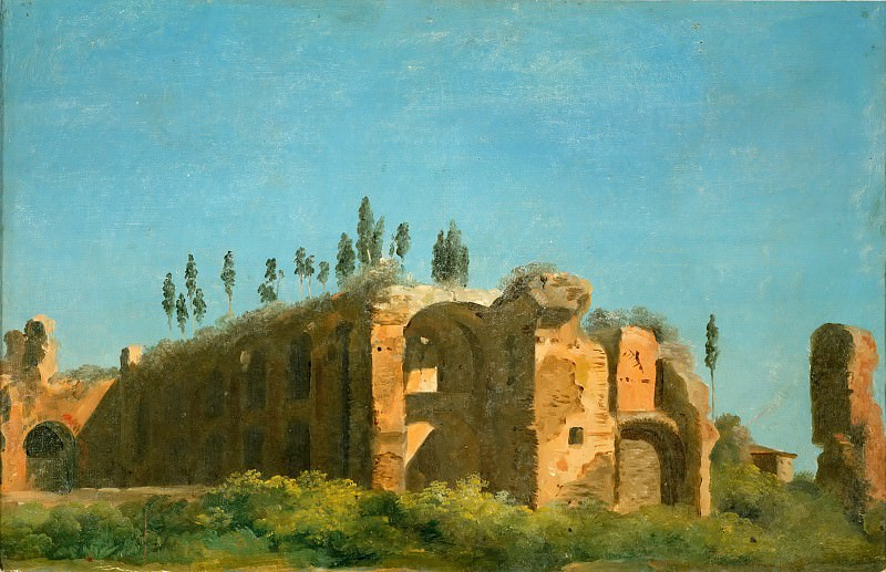 Pierre Henri de Valenciennes -- At the Villa Farnese: The Ruins. Part 5 Louvre