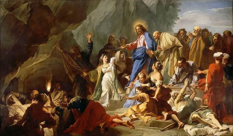 Jean-Baptiste Jouvenet -- Resurrection of Lazarus. Part 5 Louvre
