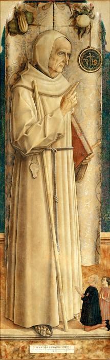 Carlo Crivelli -- Saint Jacques de la Marche and Two Kneeling Donors. Part 5 Louvre