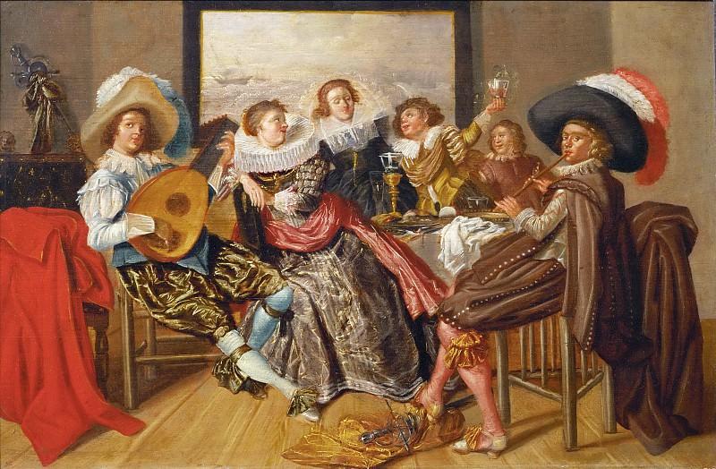 Dirck Hals (1591-1656) -- Merry Company. Part 5 Louvre