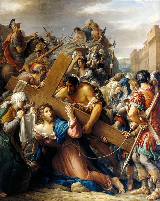 Etienne Barthélemy Garnier -- Christ on the Way to Calvary Falls under the Weight of the Cross. Part 5 Louvre