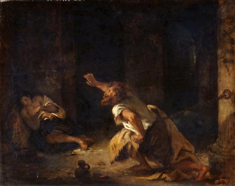 Eugène Delacroix -- The Prisoner of Chillon. Part 5 Louvre