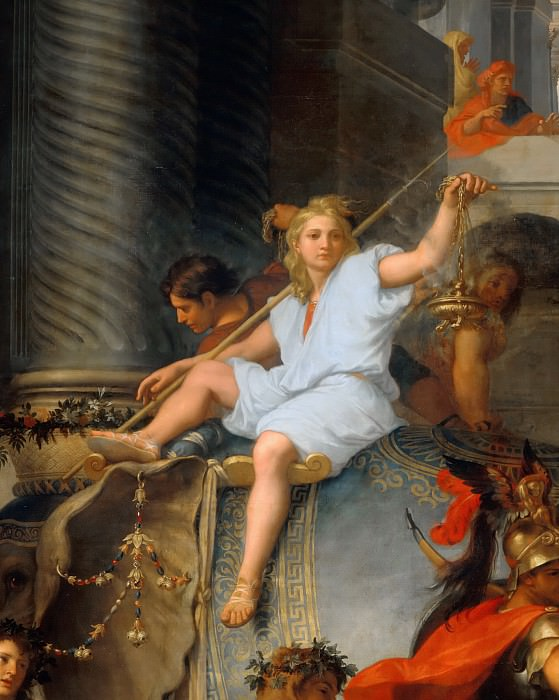 Charles Le Brun -- Entry of Alexander in Babylon (Triumph of Alexander); detail. Part 5 Louvre