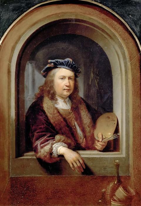 Доу, Геррит (Лейден 1613-1675) -- Автопортрет с палитрой. часть 5 Лувр
