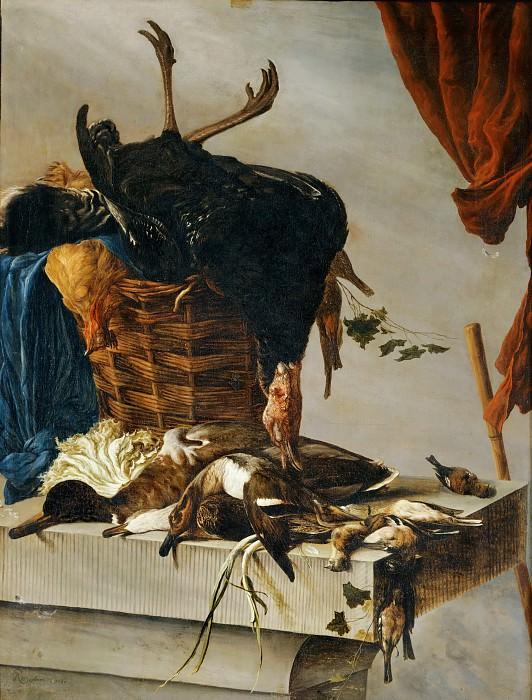 Salomon van Ruysdael (c. 1602-1670) -- Still Life with Turkey. Part 5 Louvre