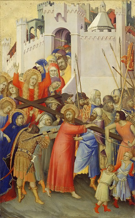 Simone Martini -- Orsini Polyptych: Road to Calvary. Part 5 Louvre