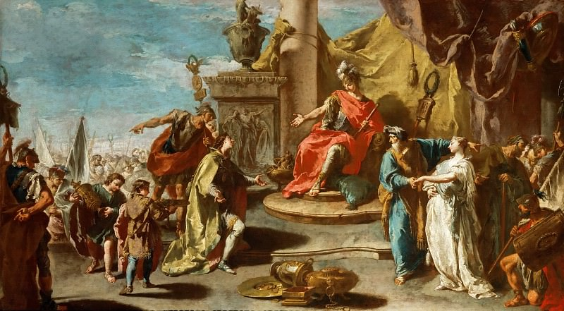 Giovanni Battista Pittoni the Younger (1687-1767) -- Continence of Scipio. Part 5 Louvre