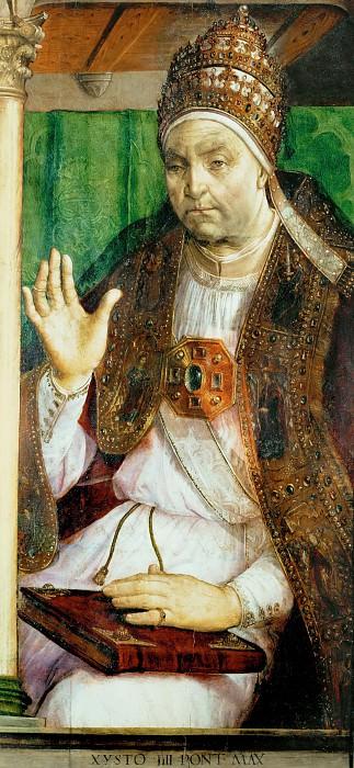 Joos van Gent -- Pope Calixtus III. Part 5 Louvre