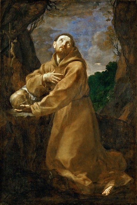 Saint Francis in Ecstacy. Guido Reni