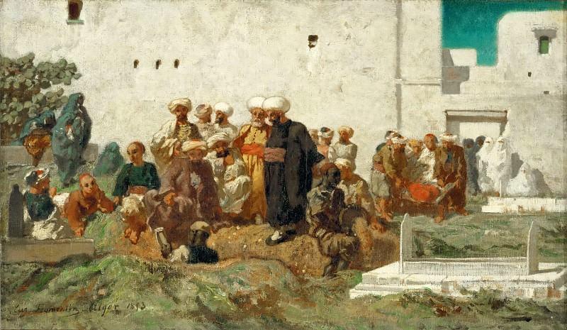 Фромантен, Эжен (Ла Рошель 1820-1876) -- Мавританские похороны. часть 5 Лувр