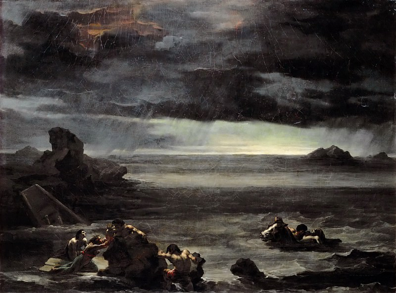 Théodore Géricault -- Scene from the Flood. Part 5 Louvre