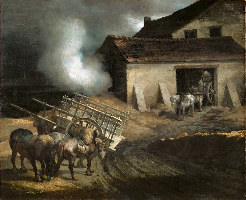 Théodore Géricault -- The Lime Kiln. Part 5 Louvre