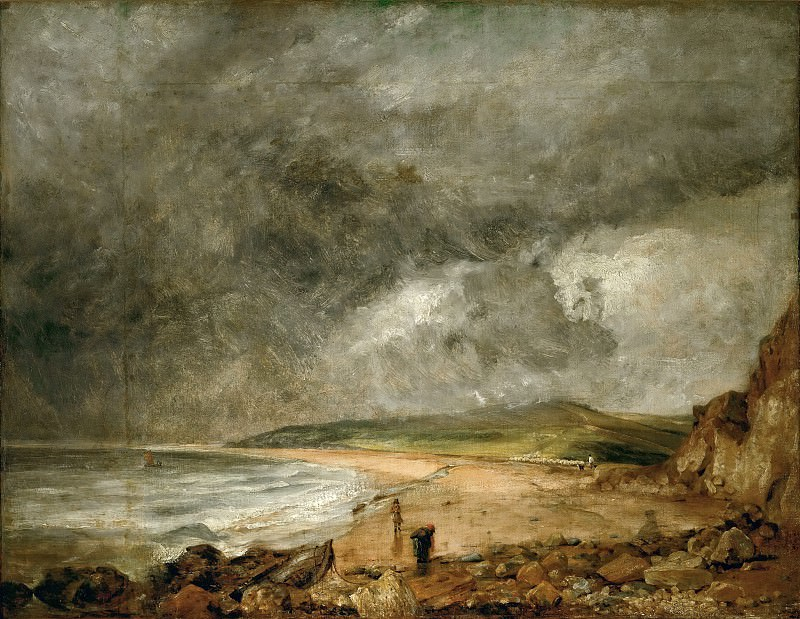 John Constable -- The Bay of Weymouth before a Thunderstorm. Part 5 Louvre