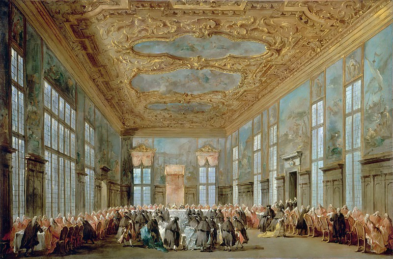 Francesco Guardi -- The Doge of Venice Giving a Banquet for the Ambassadors. Part 5 Louvre