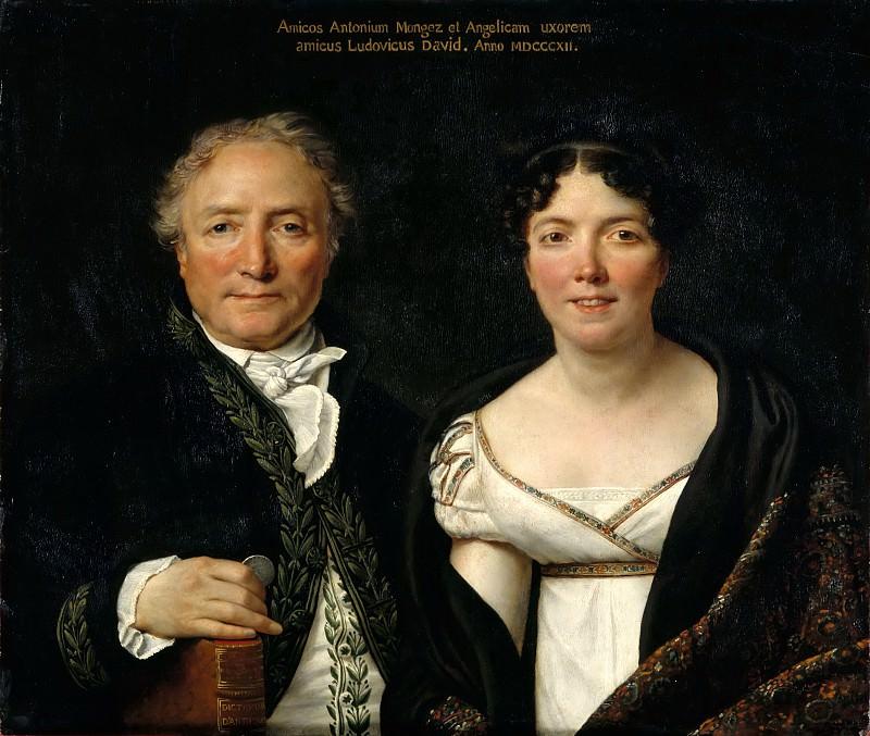 Mr. and Mrs. Antoine Mongez. Jacques-Louis David