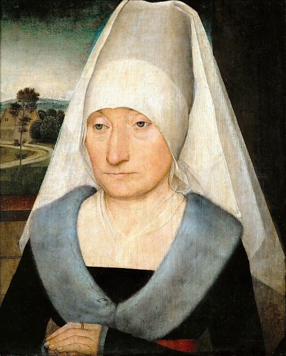 Hans Memling -- Portrait of an Elderly Woman. Part 5 Louvre