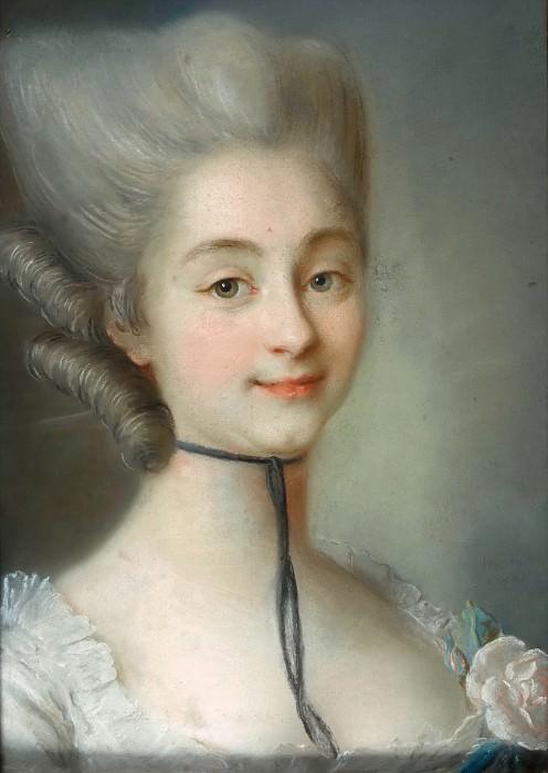 Фреду, Жан-Мартиаль (1710 Фонтене-Сен-Пер - 1795 Версаль) -- Портрет мадмуазель Ле Маркес. часть 5 Лувр