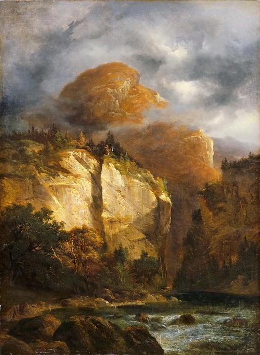 Alexandre Calame -- Mountain Landscape. Part 5 Louvre