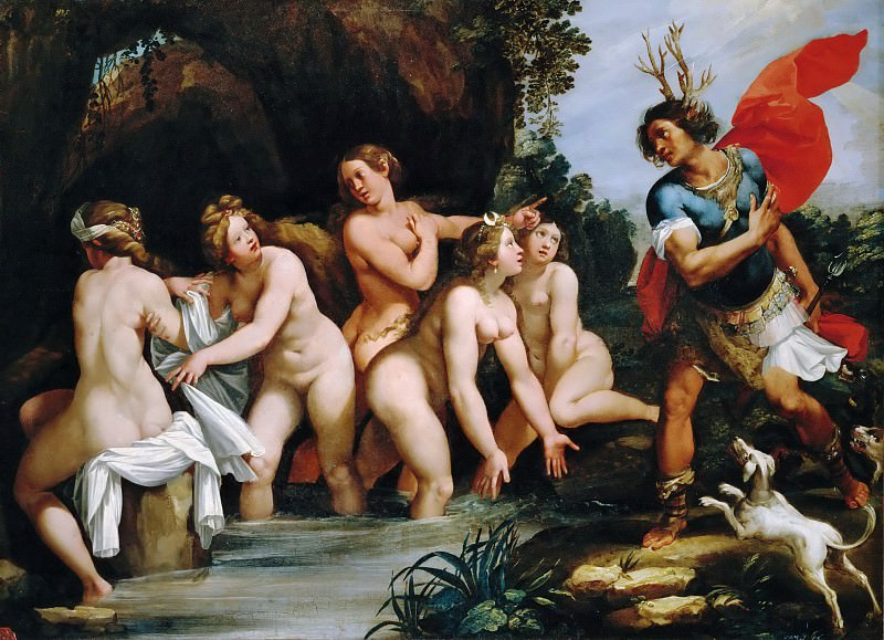 Giuseppe Cesari, called Cavalier d'Arpino (1568-1640) -- Diana and Actaeon. Part 5 Louvre