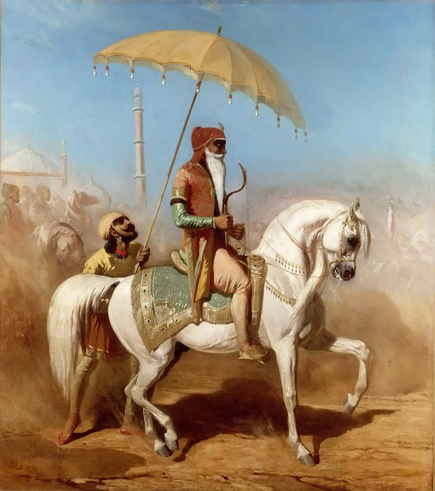 Alfred Dedreux -- Randjiit Sing Baadur, King of Lahore. Part 5 Louvre