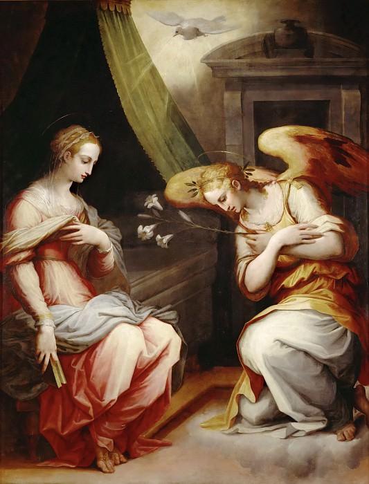 Giorgio Vasari II -- Annunciation. Part 5 Louvre