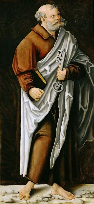 Lucas Cranach the elder -- Saint Peter. Part 5 Louvre