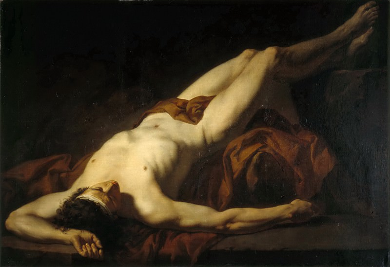 Academic study, called 'Hector'. Jacques-Louis David