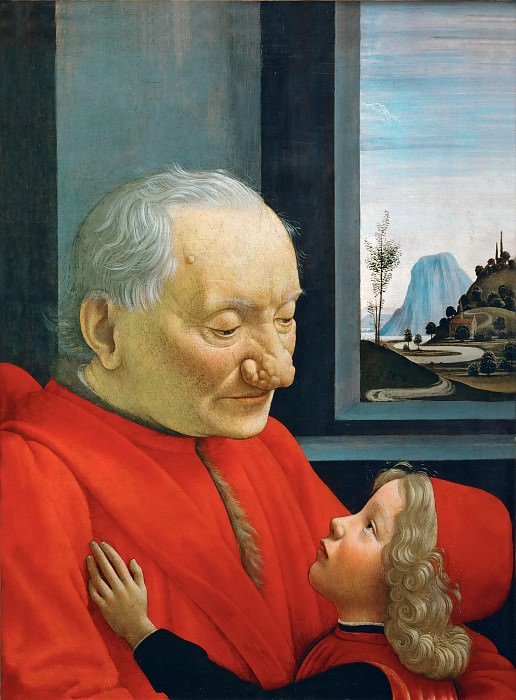 Domenico Ghirlandaio -- Portrait of an Old Man and a Young Boy. Part 5 Louvre