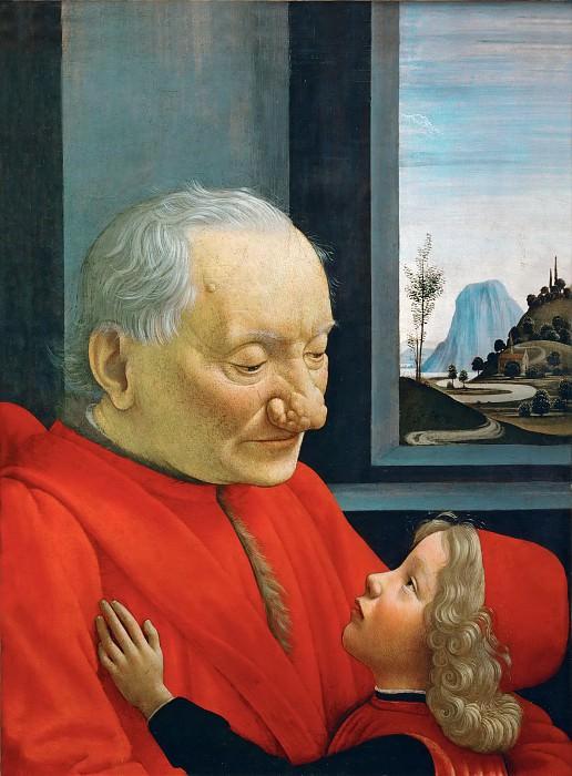 Гирландайо, Доменико (Бигорди) (Флоренция 1449-1494) -- Дедушка и внук. часть 5 Лувр