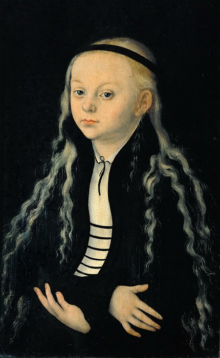 Lucas Cranach the elder -- Magdalena Luther (?), Daughter of Martin Luther. Part 5 Louvre