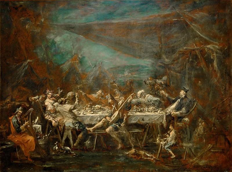 Alessandro Magnasco -- Wedding Banquet of Bohemians. Part 5 Louvre