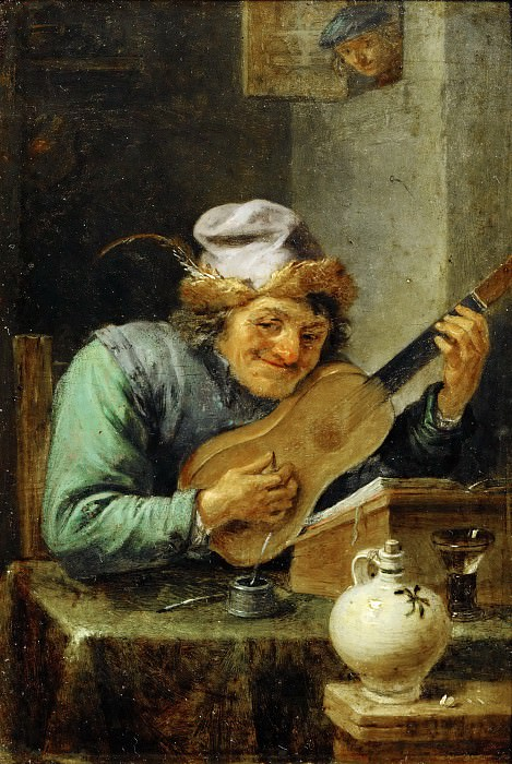 David Teniers II -- The Guitar Player. Part 5 Louvre