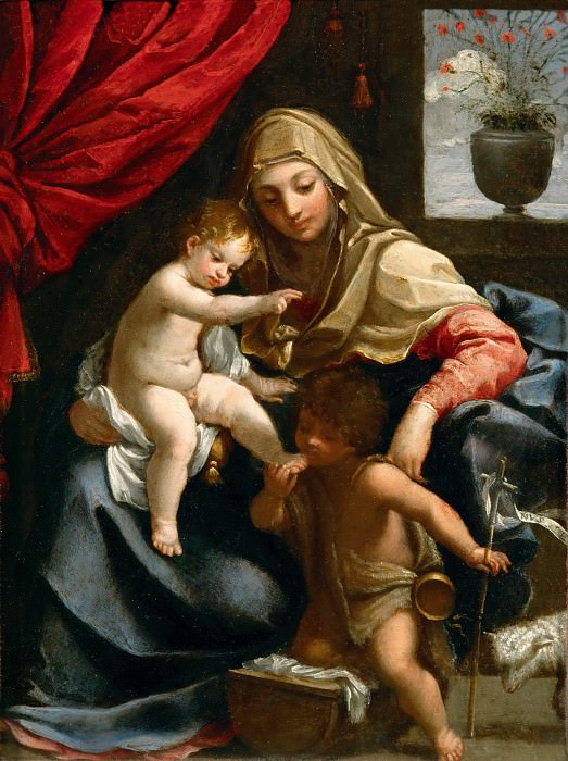 Guido Reni (1575-1642) -- The Virgin with the Christ Child and Saint John the Baptist. Part 5 Louvre