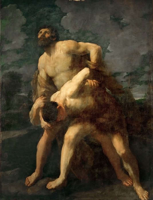 Hercules Wrestling with the River God Achelous. Guido Reni