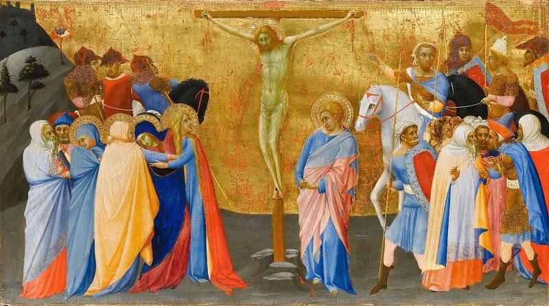 Bartolommeo Bulgarini -- Crucifixion. Part 5 Louvre