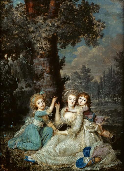 Дюмон, Франсуа (1751-1831) -- Мария Антуанетта с детьми. Part 5 Louvre