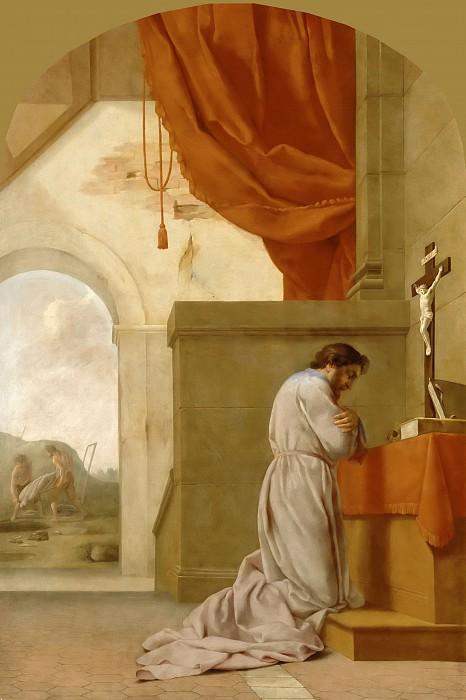 Eustache Le Sueur -- Life of St. Bruno: St. Bruno in prayer. Part 5 Louvre