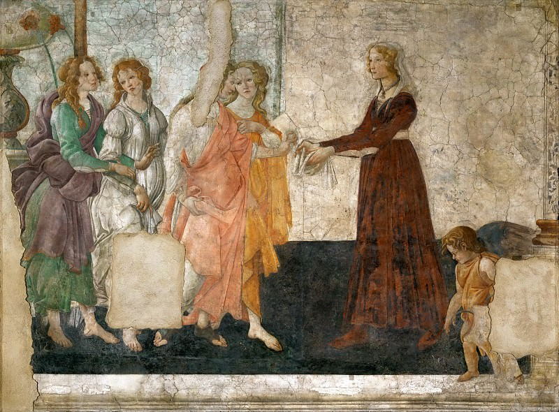 Sandro Botticelli (1444 or 1445-1510) -- Venus and the Graces Offer Presents to a Young Girl. Part 5 Louvre