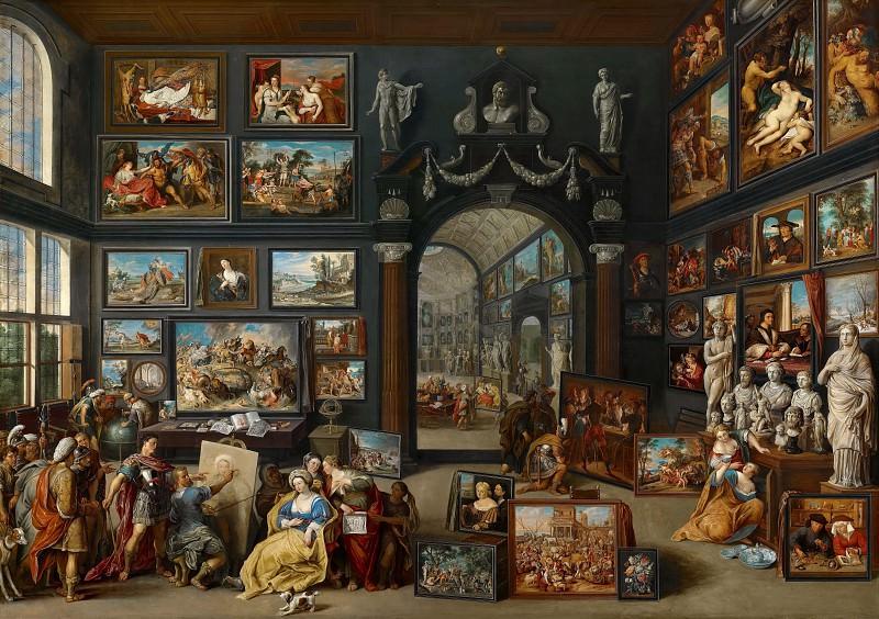Willem van Haecht - Apelles Painting Campaspe. Mauritshuis