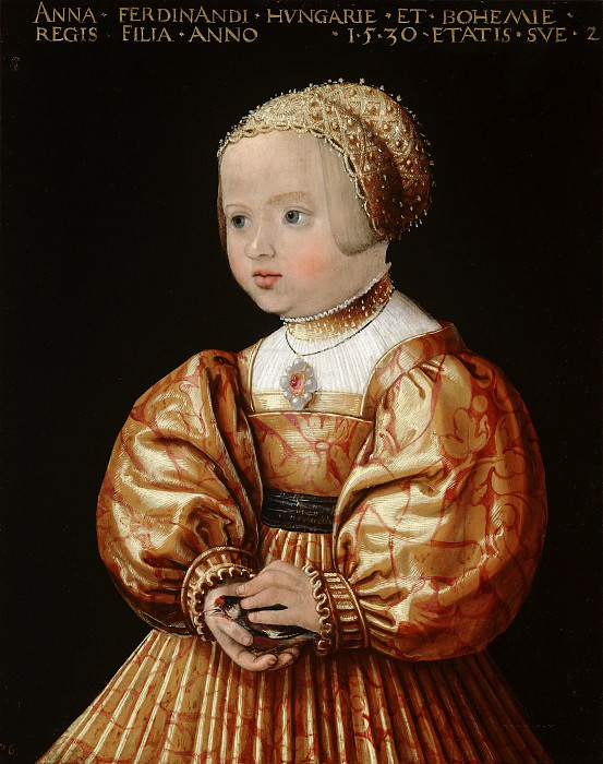 Jacob Seisenegger - Portrait of Anna of Austria (1528-1590), Aged Two. Mauritshuis