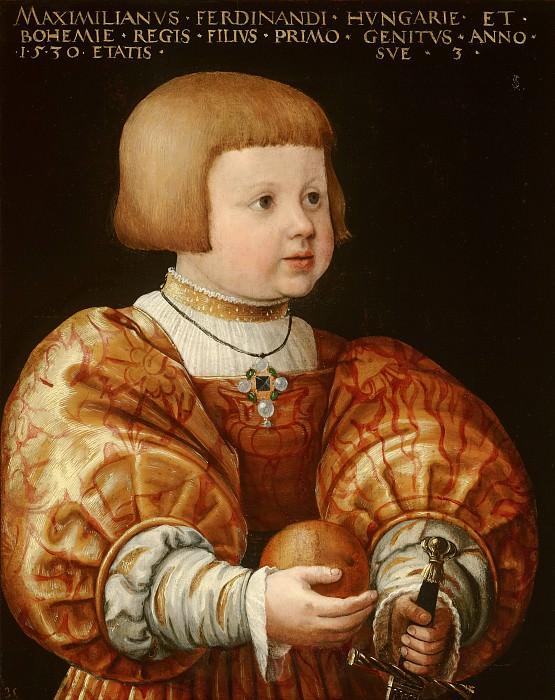 Jacob Seisenegger - Portrait of Maximilian of Austria (1527-1576), Aged Three. Mauritshuis