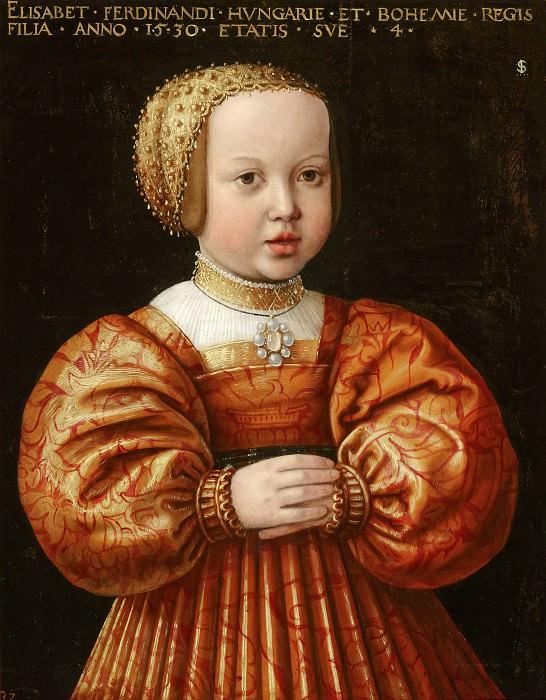 Jacob Seisenegger - Portrait of Elisabeth of Austria (1526-1545), Aged Four. Mauritshuis