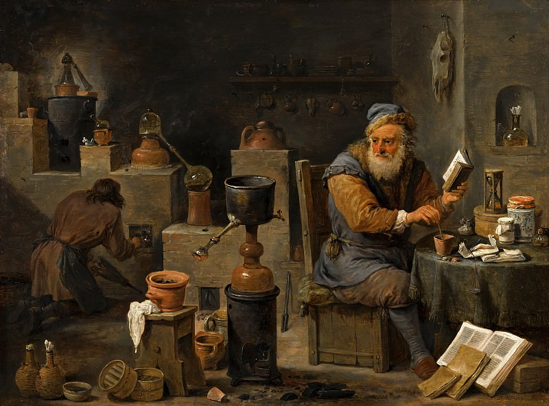 David Teniers the Younger - The Alchemist. Mauritshuis