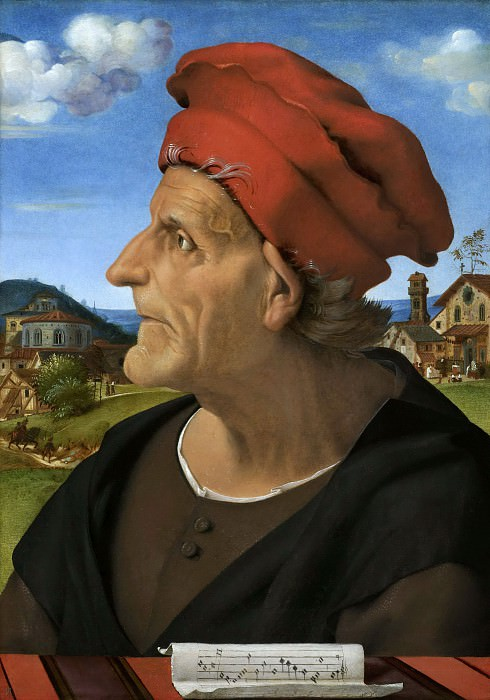 Piero di Cosimo - Posthumous Portrait of Francesco Giamberti (1405-c.1482), Father of Giuliano da Sangallo. Mauritshuis