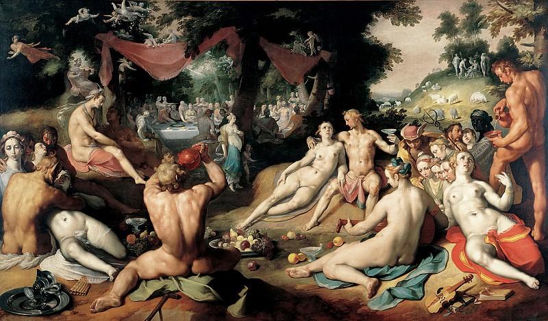 Cornelis Cornelisz van Haarlem - The Wedding of Peleus and Thetis. Mauritshuis
